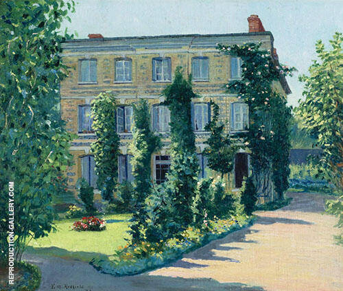 The House of Dr Husson Offranville France 1893 By Edward Willis Redfield