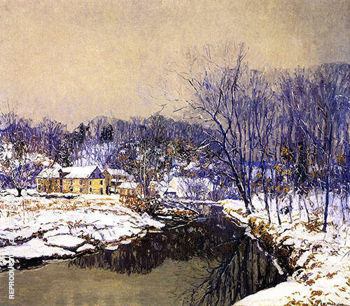 The Mill in Winter By Edward Willis Redfield