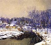 The Mill in Winter By Edward Willis Redfield