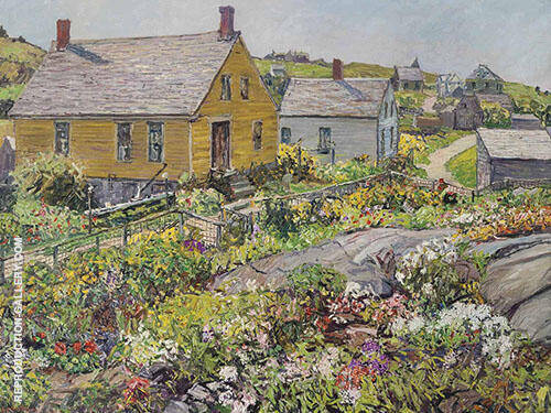 The Rock Garden Monhegan Island 1928 By Edward Willis Redfield