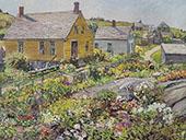 The Rock Garden Monhegan Island 1928 By Edward Willis Redfield