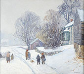The Snow Storm 1915 By Edward Willis Redfield