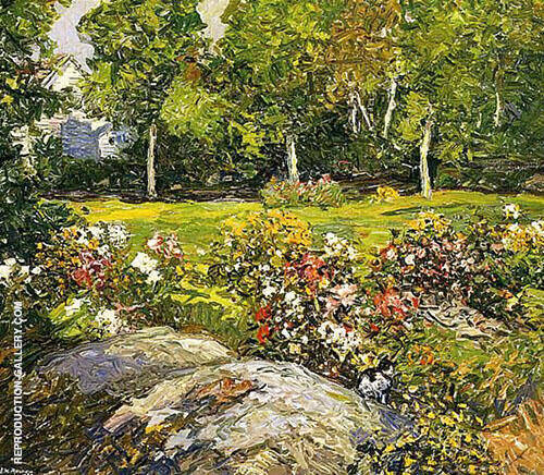 The Studio Garden By Edward Willis Redfield
