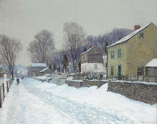 The Village of Center Bridge 1907 By Edward Willis Redfield