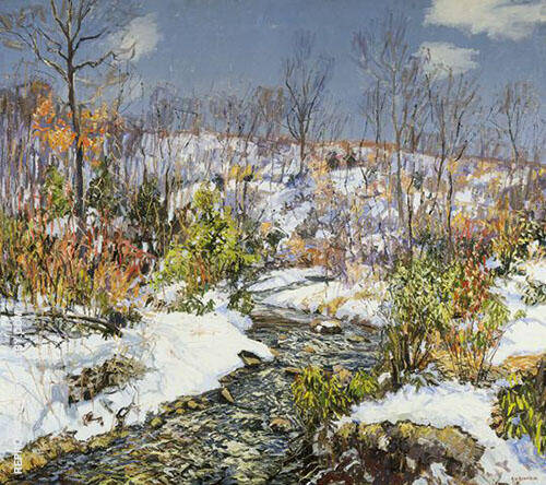 Trout Brook 1916 By Edward Willis Redfield
