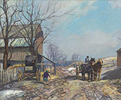 When Spring Comes c1930 By Edward Willis Redfield