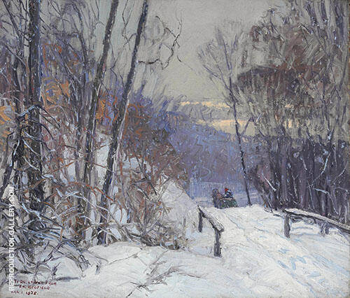 Winter Scene 1920 By Edward Willis Redfield