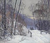 Winter Scene 1920 By Edward Willis Redfield