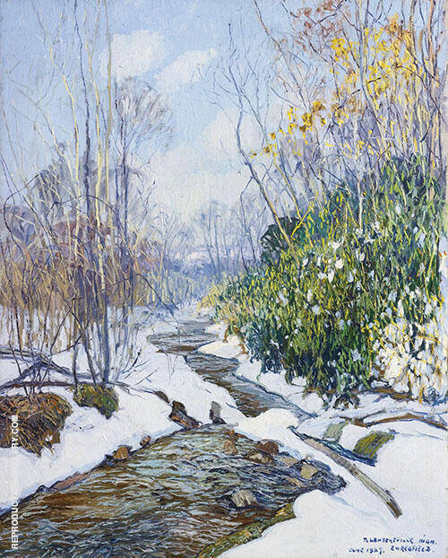 Winter Stream 1927 By Edward Willis Redfield