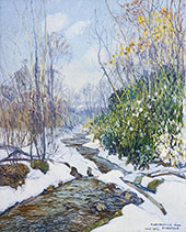 Winter Stream 1927 By Edward Willis Redfield