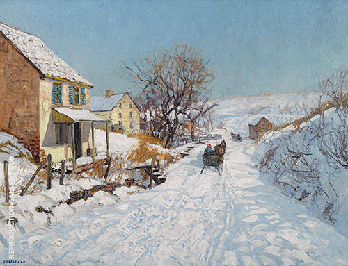 Winter Sunlight 1929 By Edward Willis Redfield