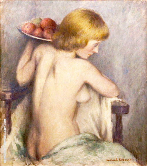 A Nude with Apples By Edmund William Greacen