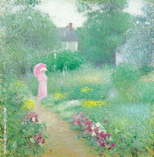 In Miss Florences Garden 1913 By Edmund William Greacen