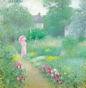In Miss Florences Garden 1913 By Edmund William Greacen