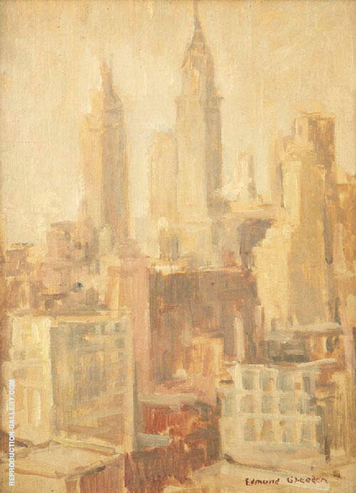New York Skyline 1920 By Edmund William Greacen