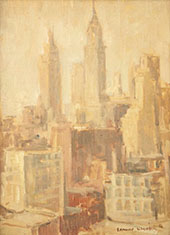 New York Skyline 1920 By Edmund William Greacen