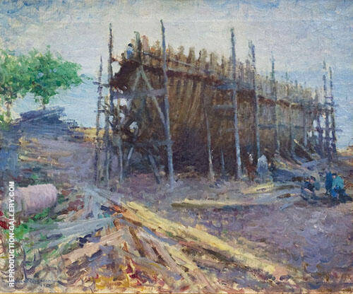 Noank Shipyard 1912 By Edmund William Greacen