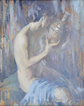 Nude with Vase By Edmund William Greacen