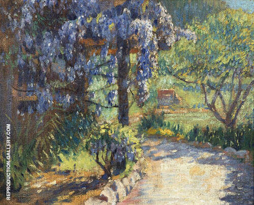 Path Through The Garden By Edmund William Greacen