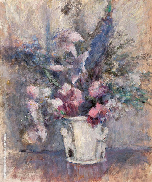 Pink and Blue Flowers 1925 By Edmund William Greacen