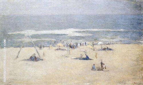 The Beach at East Hampton Long Island By Edmund William Greacen