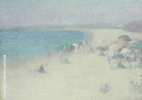 The Beach at Watch Hill By Edmund William Greacen