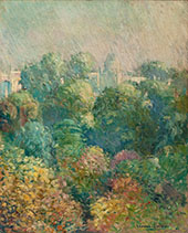 Tree Tops from Boulevard Raspail Paris 1906 By Edmund William Greacen