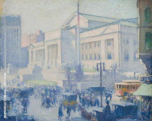 Union Square New York 1917 By Edmund William Greacen