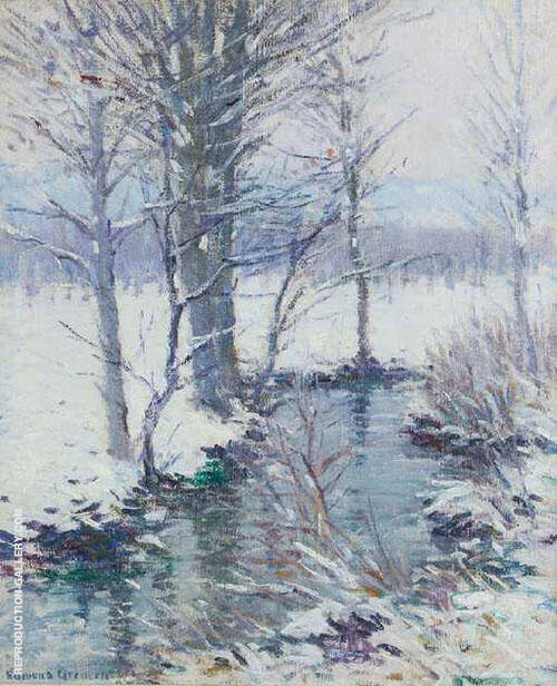 Winter Landscape By Edmund William Greacen