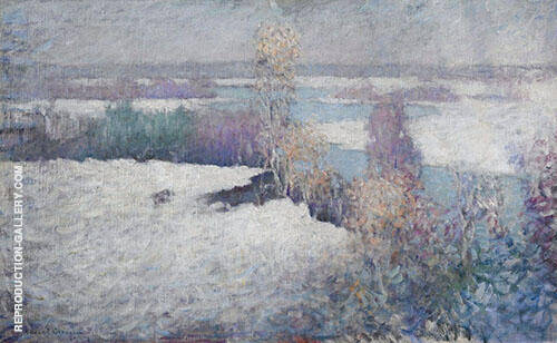 Winter Landscape Lieutenant River Old Lyme 1917 By Edmund William Greacen