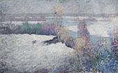 Winter Landscape Lieutenant River Old Lyme 1917 By Edmund William Greacen
