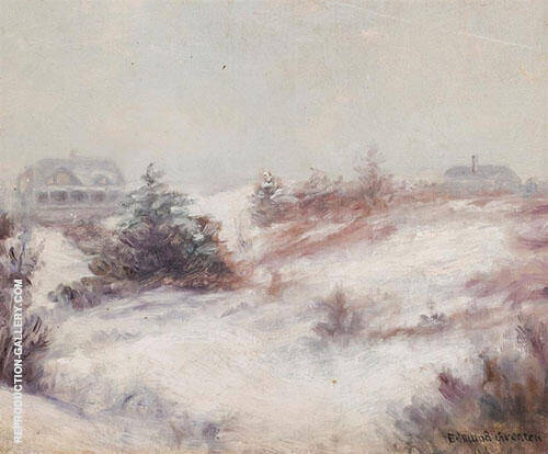 Winter Scene By Edmund William Greacen