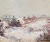 Winter Scene By Edmund William Greacen