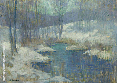 Winter Stream 1920 By Edmund William Greacen