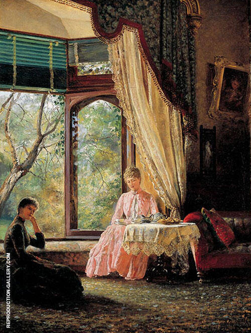 Afternoon Tea 1888 Painting By Emma Minnie Boyd - Reproduction Gallery