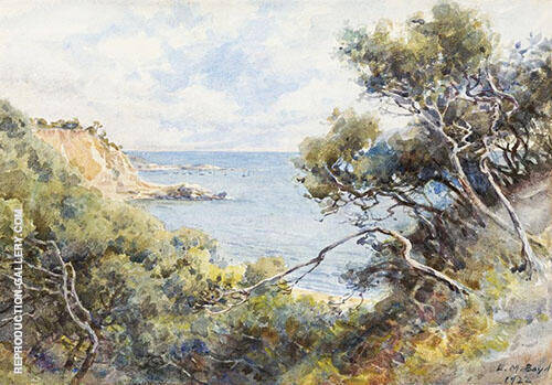 Beach and Cliffs Near Mt Martha 1922 By Emma Minnie Boyd