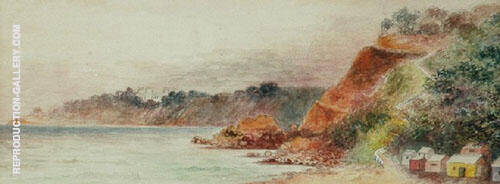 Beach at Mount Martha 1910 Painting By Emma Minnie Boyd