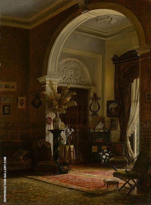 Corner of a Drawing Room 1887 Painting By Emma Minnie Boyd