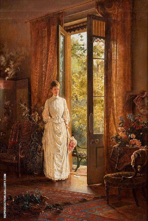 The Letter 1889 Painting By Emma Minnie Boyd - Reproduction Gallery