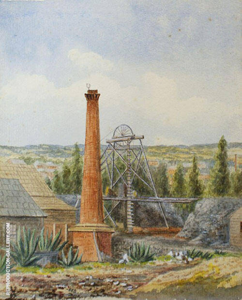 The Mine Shaft 1883 By Emma Minnie Boyd