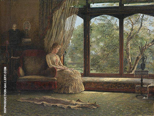 The Window Seat 1887 Painting By Emma Minnie Boyd - Reproduction Gallery