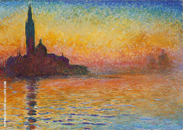 San Giorgio by Twilight 1908 By Claude Monet