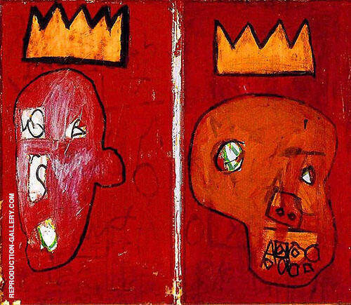 Two Kings By Jean-Michel-Basquiat