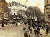 Boulevard des Italiens 1900 By Jean Francois Rafaelli