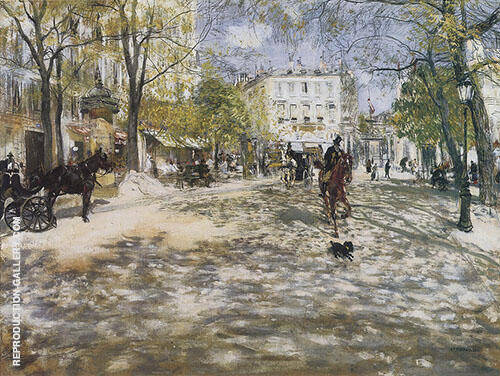 Boulevard in Paris By Jean Francois Rafaelli