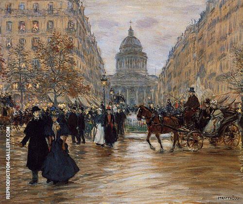 Boulevard Saint Michel Painting By Jean Francois Rafaelli