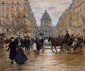 Boulevard Saint Michel By Jean Francois Rafaelli