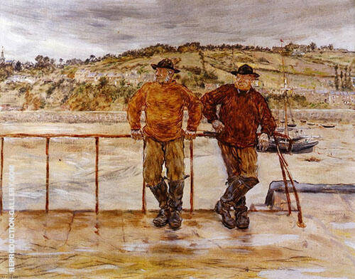 Fishermen at Jersey By Jean Francois Rafaelli