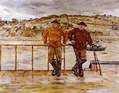 Fishermen at Jersey By Jean Francois Rafaelli
