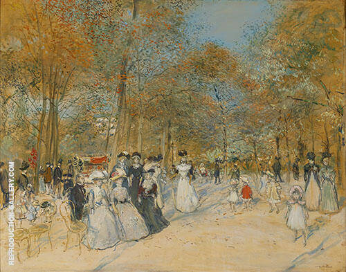 Les Champs Elysees 1890 Painting By Jean Francois Rafaelli